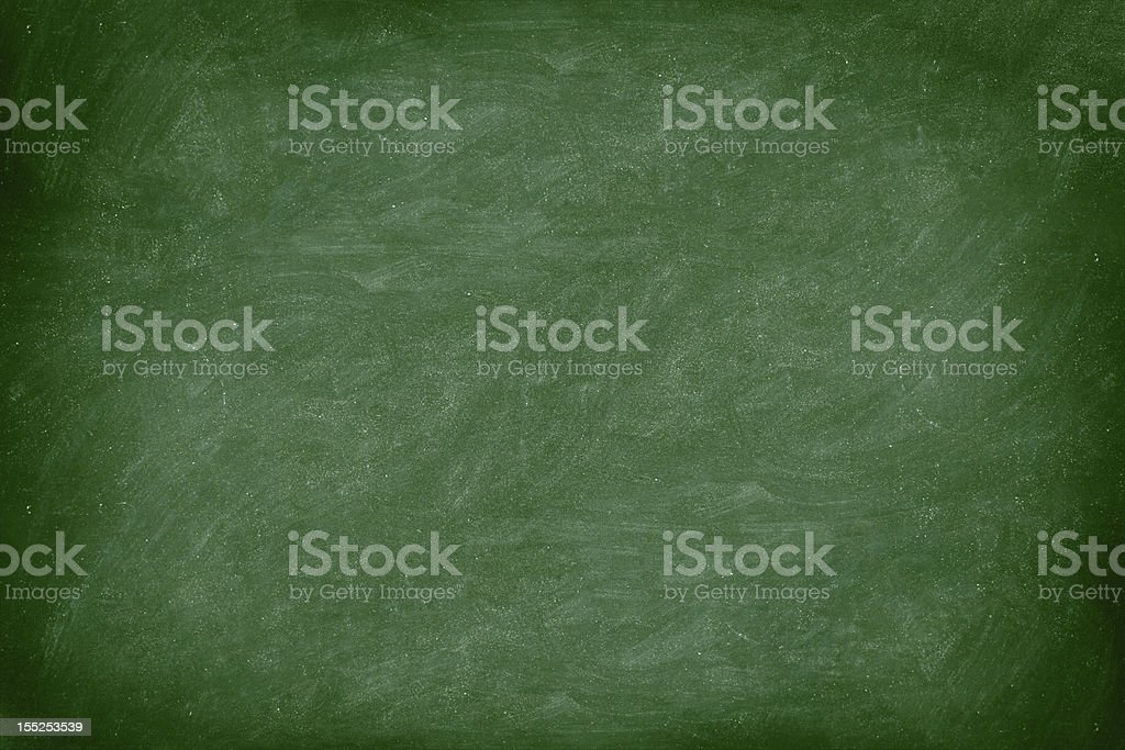 Dusty blackboard with a green hue royalty-free stock photo