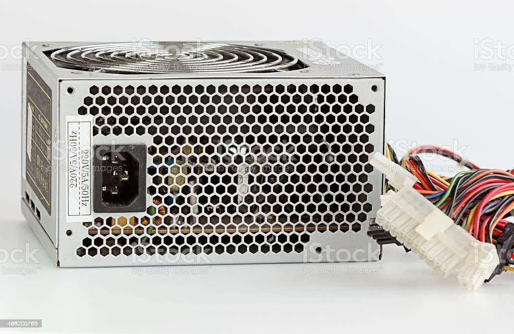 Dusty Computer Power Supply Unit stock photo