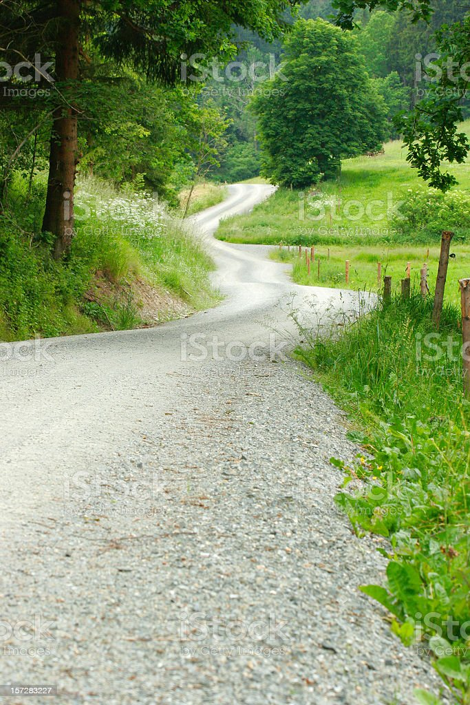 Dusty Country Road royalty-free stock photo