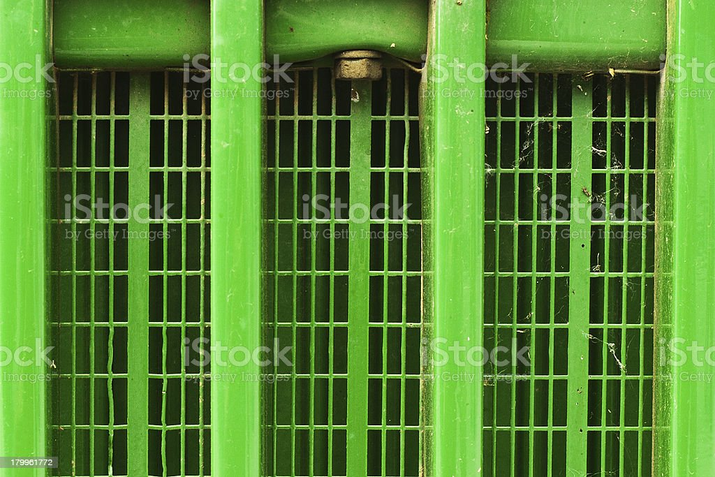 Dusty Green Tractor Grille royalty-free stock photo