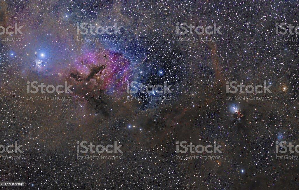 Dusty Nebulae of Taurus constellation stock photo