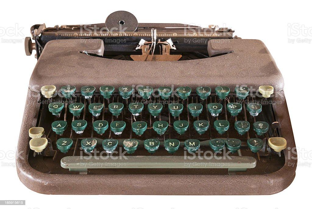 Dusty Old Manual Typewriter royalty-free stock photo