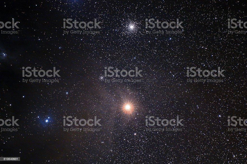 Dusty region around Antares stock photo
