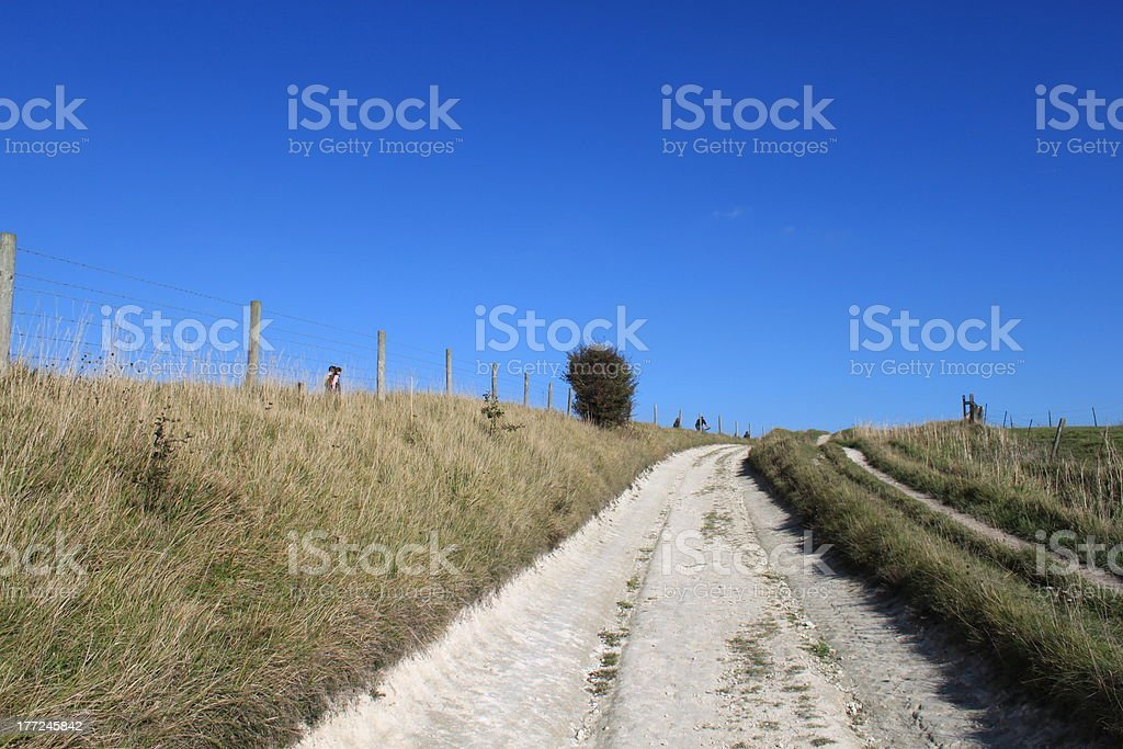 Dusty Rural Track royalty-free stock photo