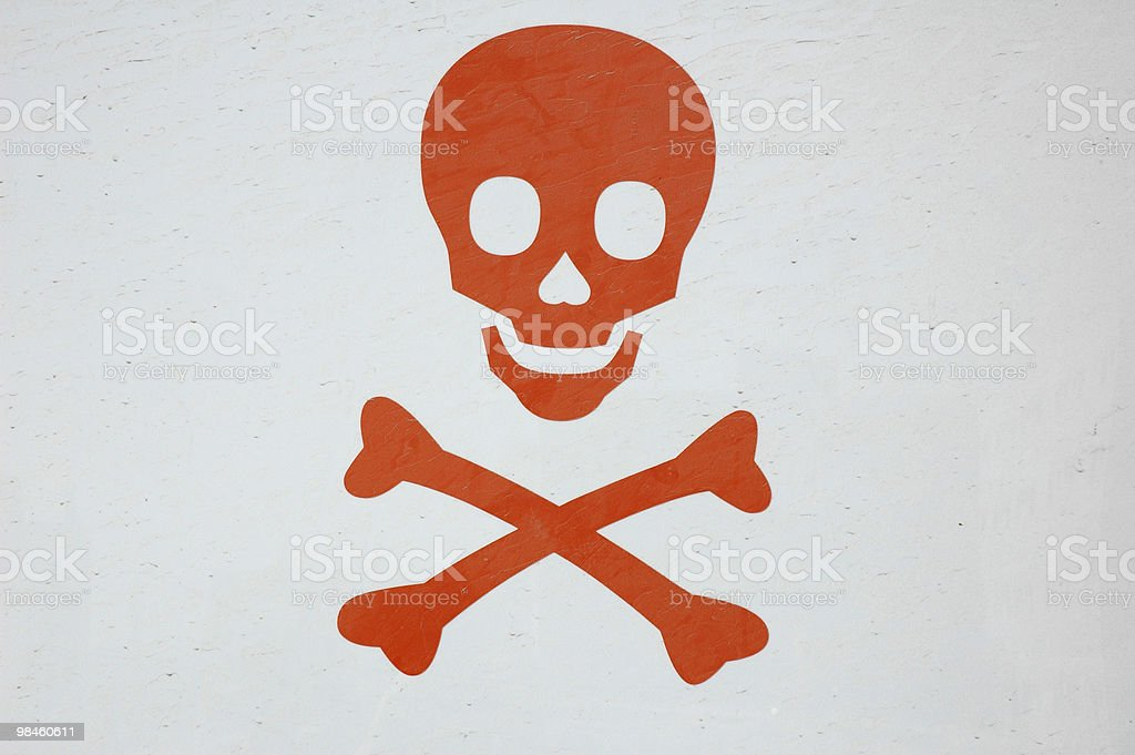 Dusty Skull stock photo