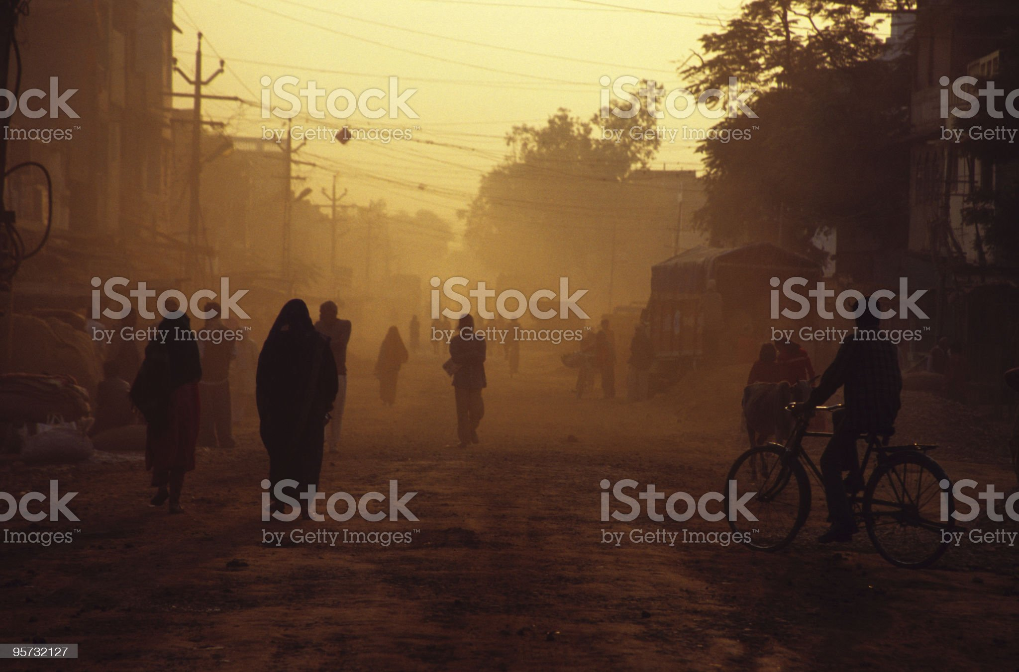 Dusty Street Scene royalty-free stock photo