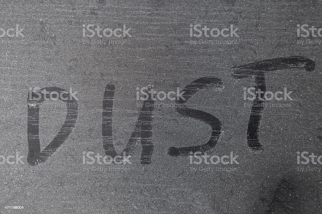 Dusty surface stock photo