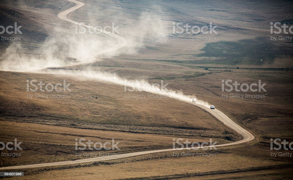 Dusty Unpaved Road stock photo