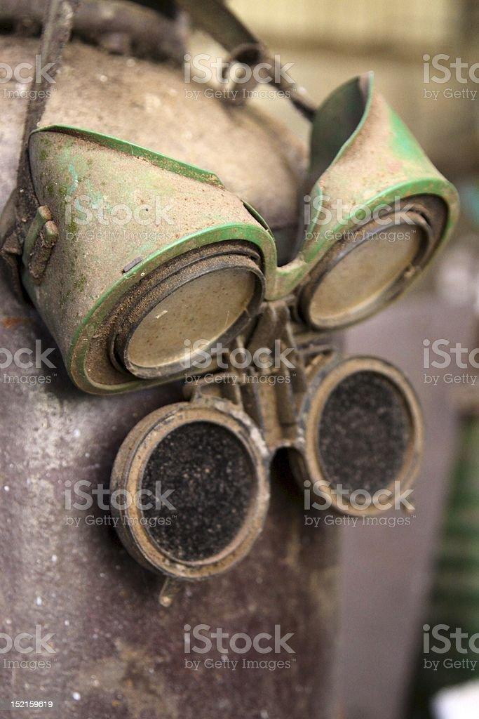 Сварочная очки Dusty. Стоковые фото Стоковая фотография
