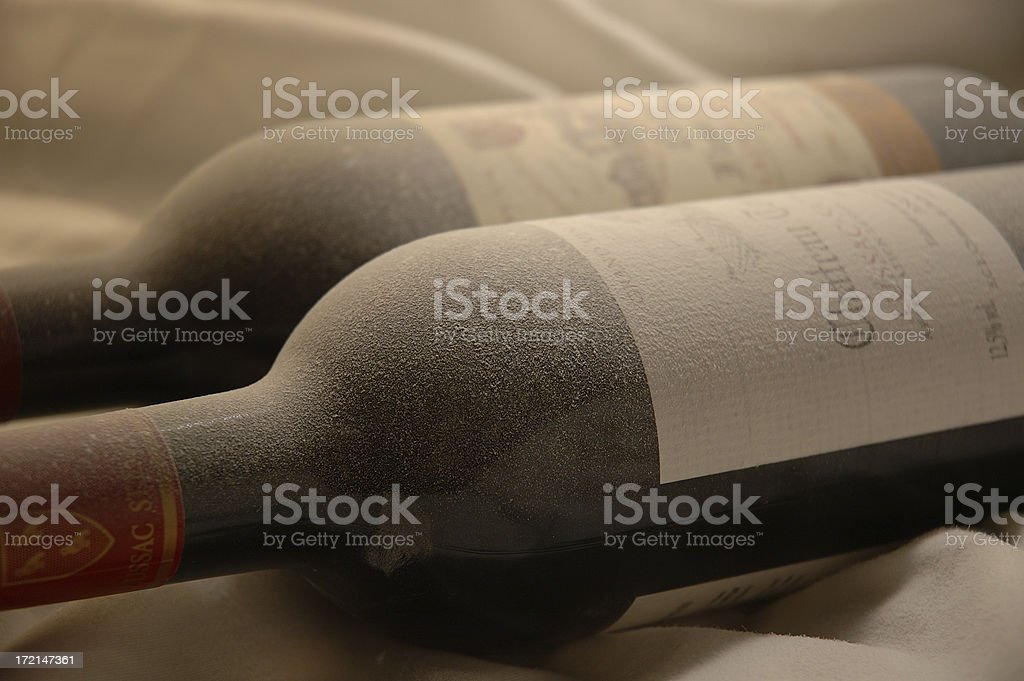 Dusty Wine Bottles 2 royalty-free stock photo