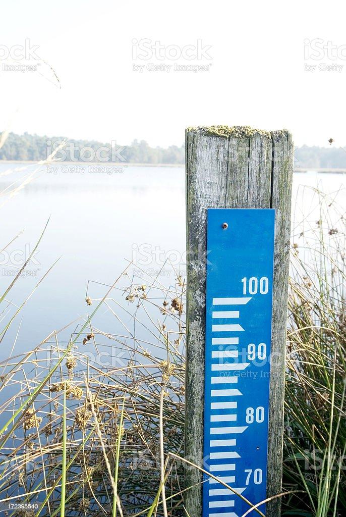 Dutch Amsterdam Level (Water Gauge) royalty-free stock photo