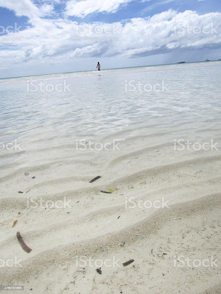 Dutch angle of Sea Surface royalty-free stock photo