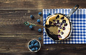 Dutch Baby pancake with blueberrie