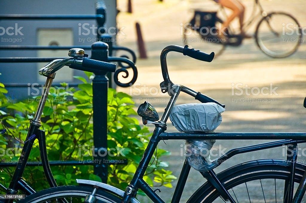 Dutch bikes stock photo