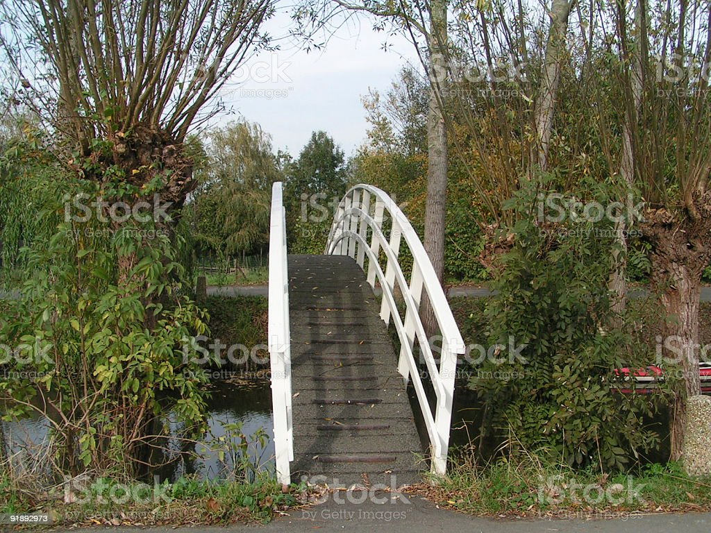 Dutch bridge stock photo