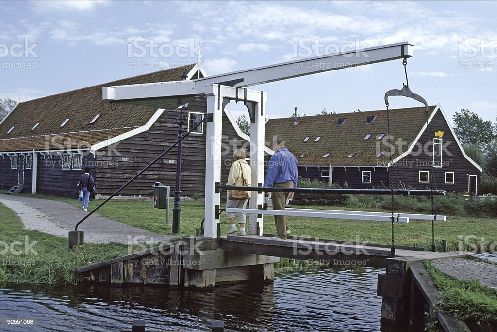 Dutch Canal Bridge royalty-free stock photo