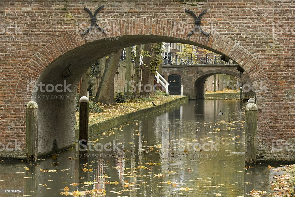 Dutch Canal in Autumn royalty-free stock photo