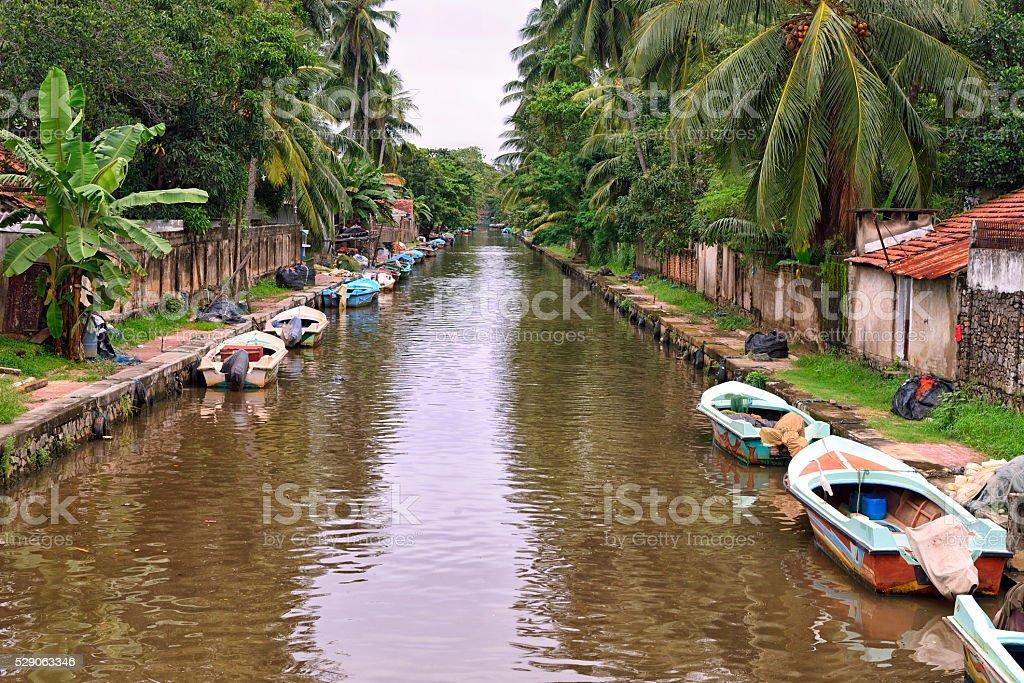 Dutch Canal, Negombo, Sri Lanka stock photo