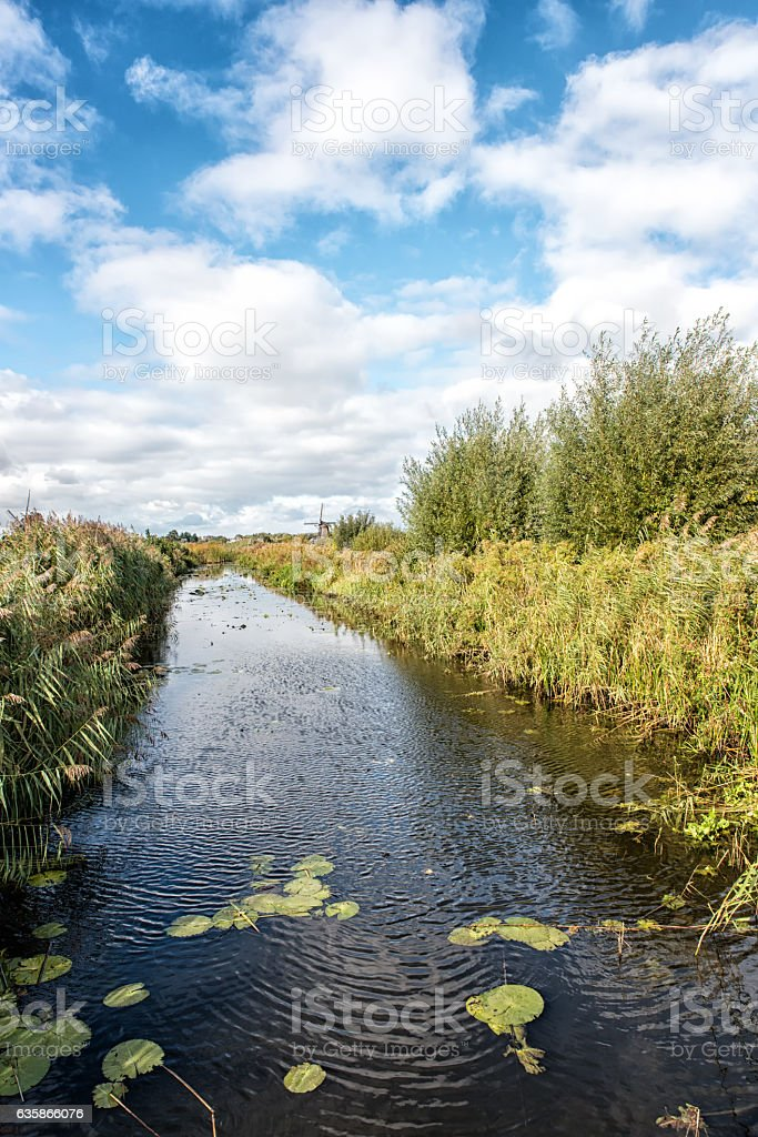 Dutch canal stock photo