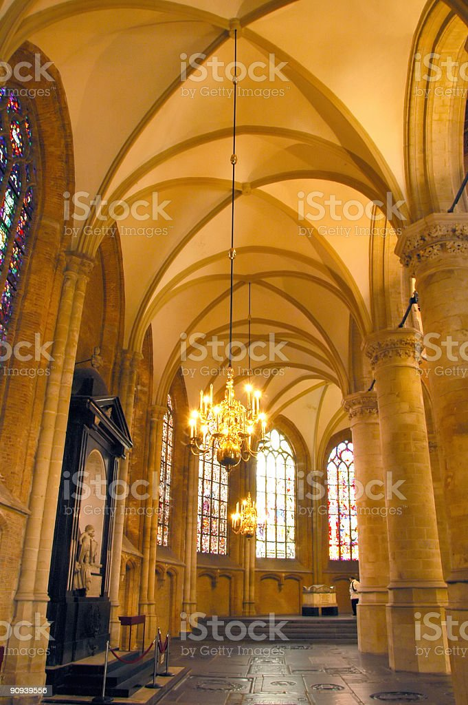 Dutch Cathedral in Delft royalty-free stock photo