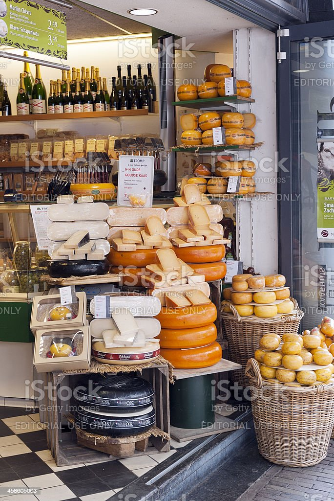 Dutch Cheese Store royalty-free stock photo