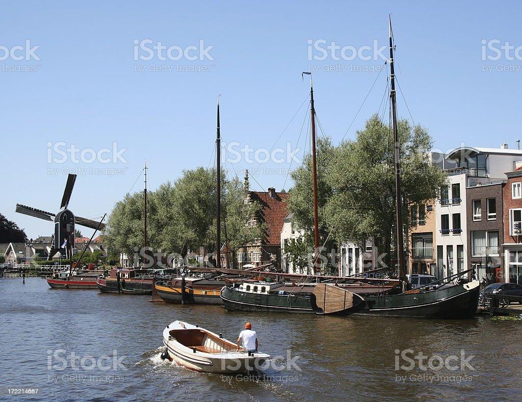 Dutch city scene royalty-free stock photo