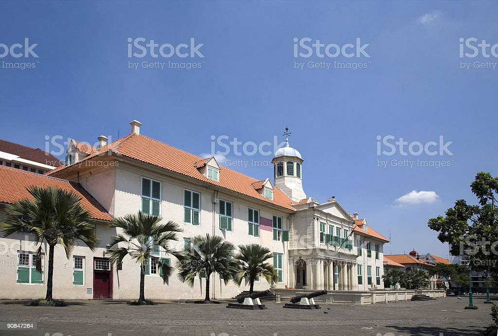 Dutch colonial building 1 stock photo