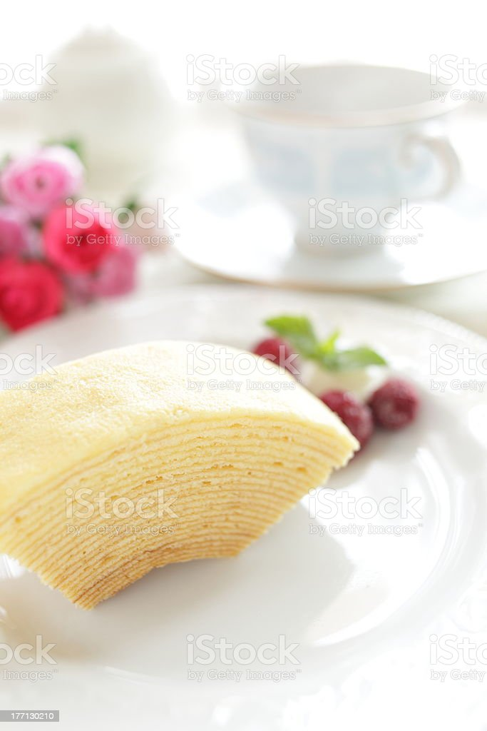 Dutch confectionery, Baumkuchen stock photo