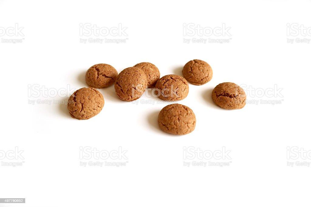 Dutch cookie (kruidnoten) for Sinterklaas holiday (St. Nicolas) stock photo