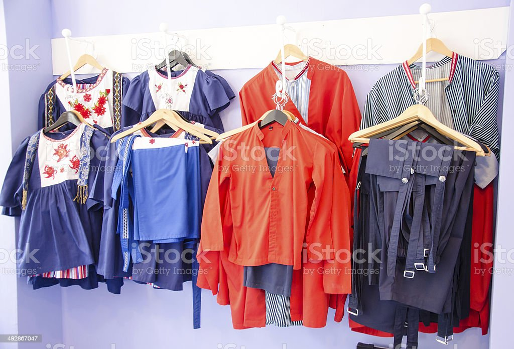 Dutch costume stock photo