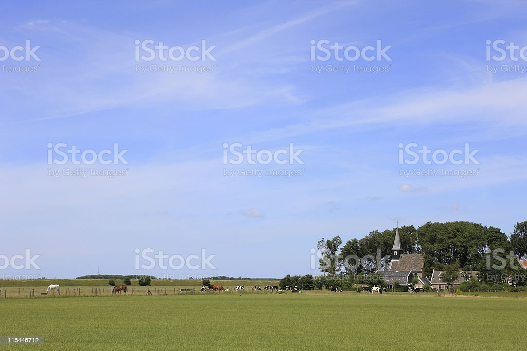 Dutch Country Village royalty-free stock photo