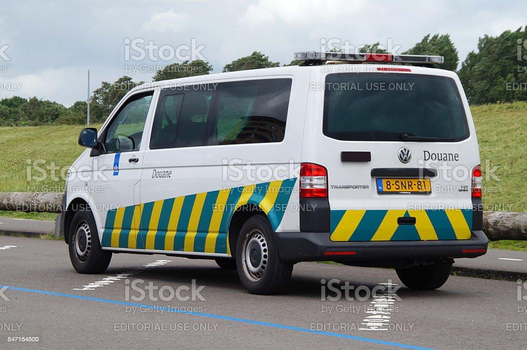 Dutch Douane Customs - Belastingdienst stock photo