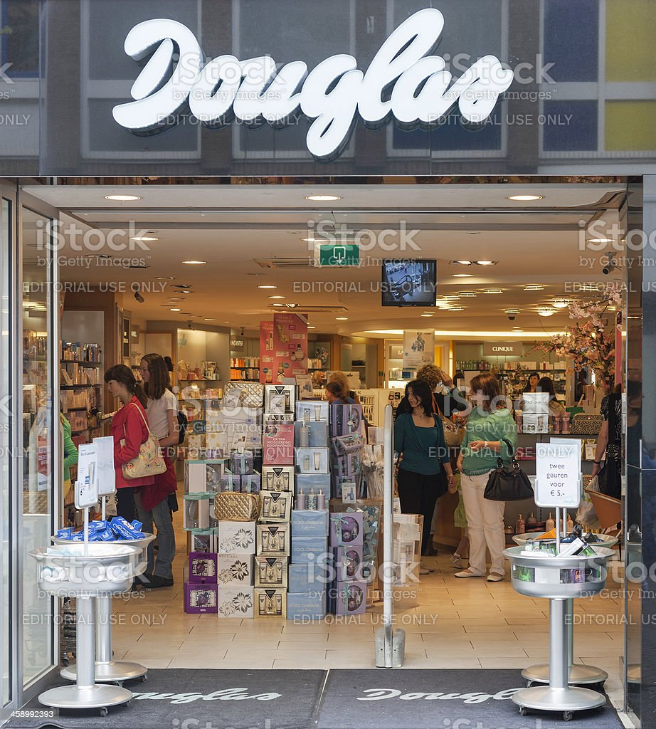 Dutch Douglas store in Enschede stock photo