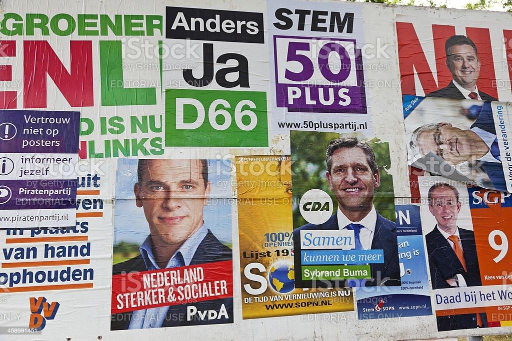 Dutch election posters # 4 XXXL royalty-free stock photo
