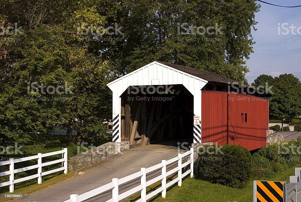 Dutch Enclosed Bridge royalty-free stock photo