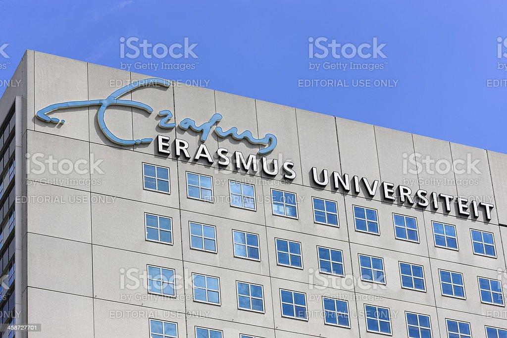 Dutch Erasmus University building at the Woudenstein campus in Rotterdam stock photo