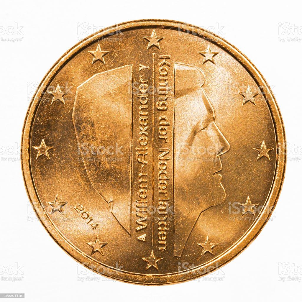 Dutch Euro Coin stock photo