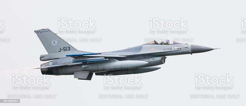 Dutch F-16 fighter jet stock photo