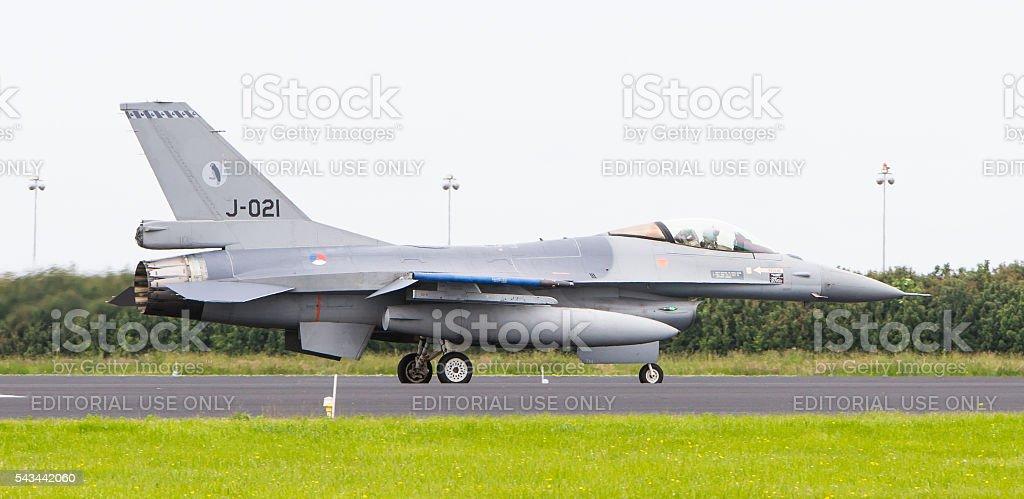 Dutch F-16 fighter stock photo
