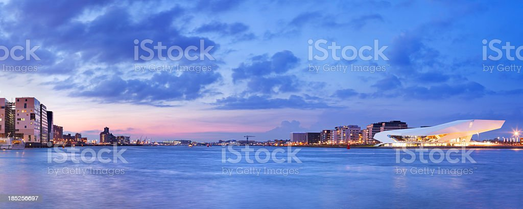 Dutch Film Institute EYE across the water, Amsterdam, The Netherlands royalty-free stock photo