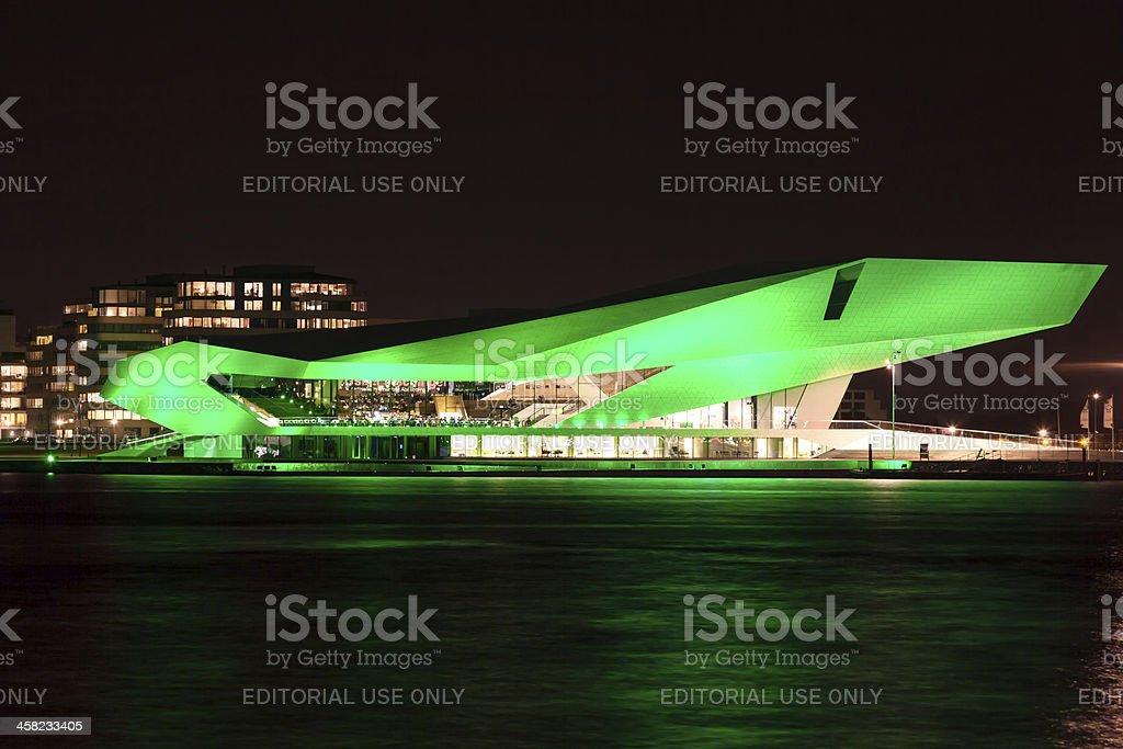 Dutch Film Institute EYE goes green on Saint Patrick's Day royalty-free stock photo