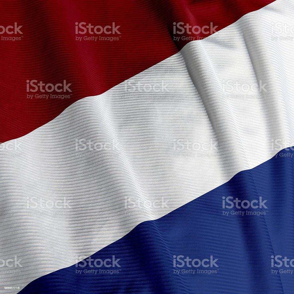 Dutch Flag Closeup royalty-free stock photo