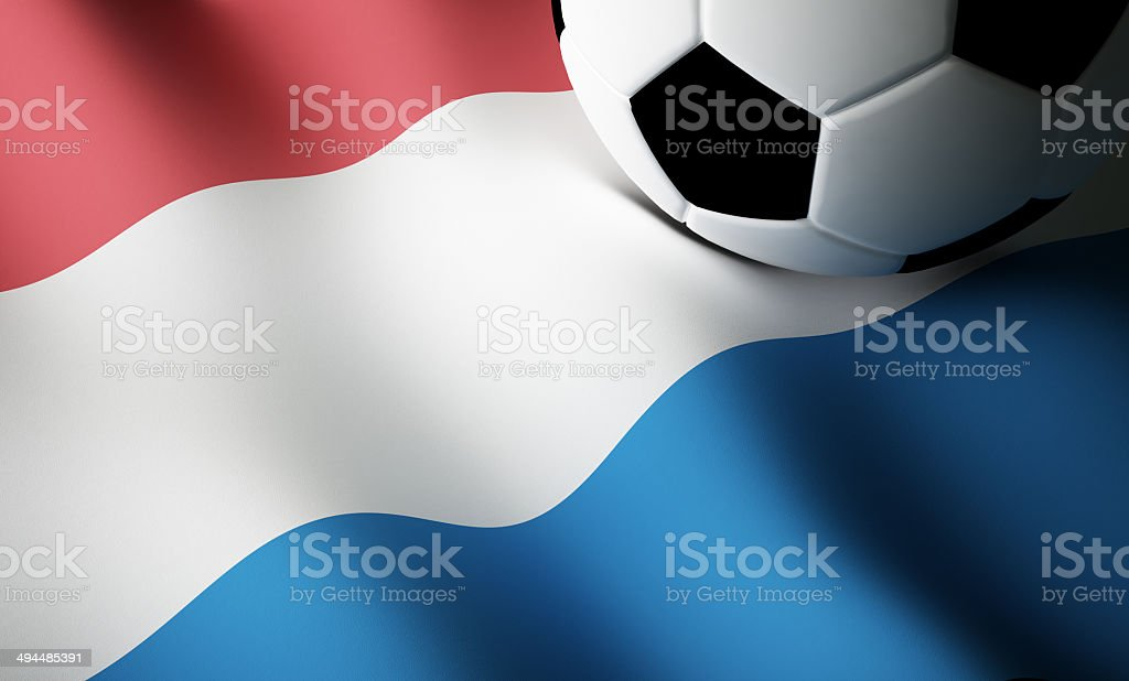 Dutch flag, football stock photo