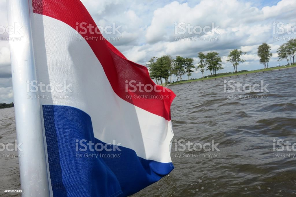 Dutch flag in nature stock photo