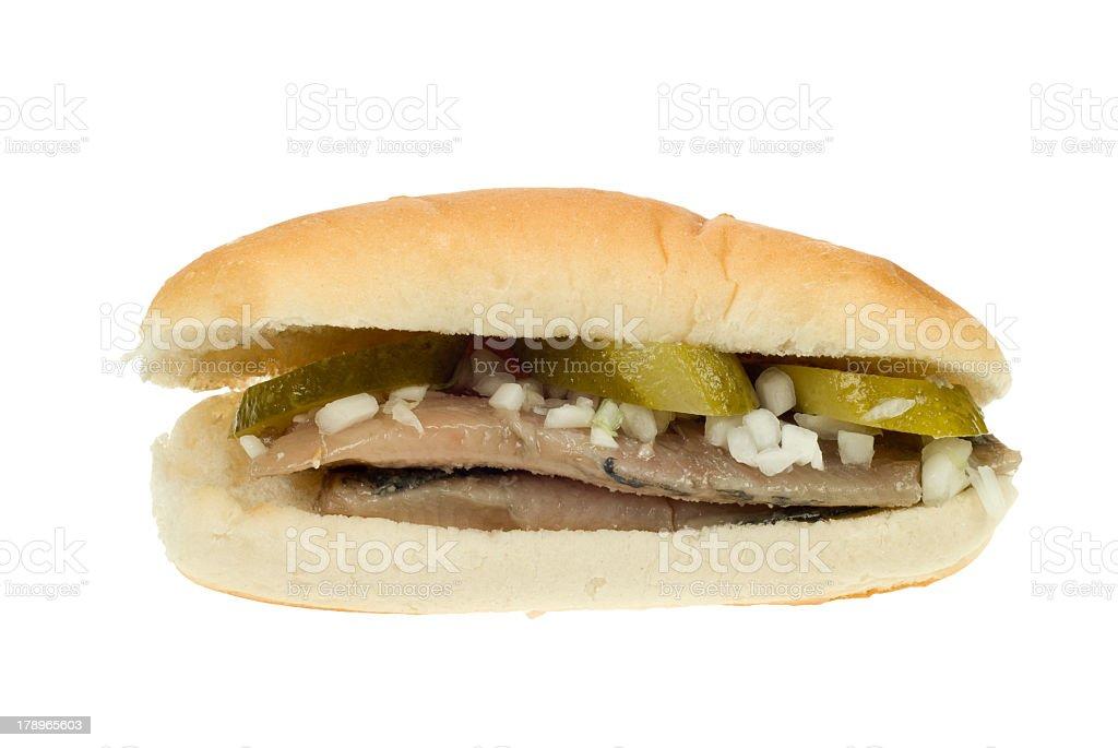 dutch herring sandwich royalty-free stock photo