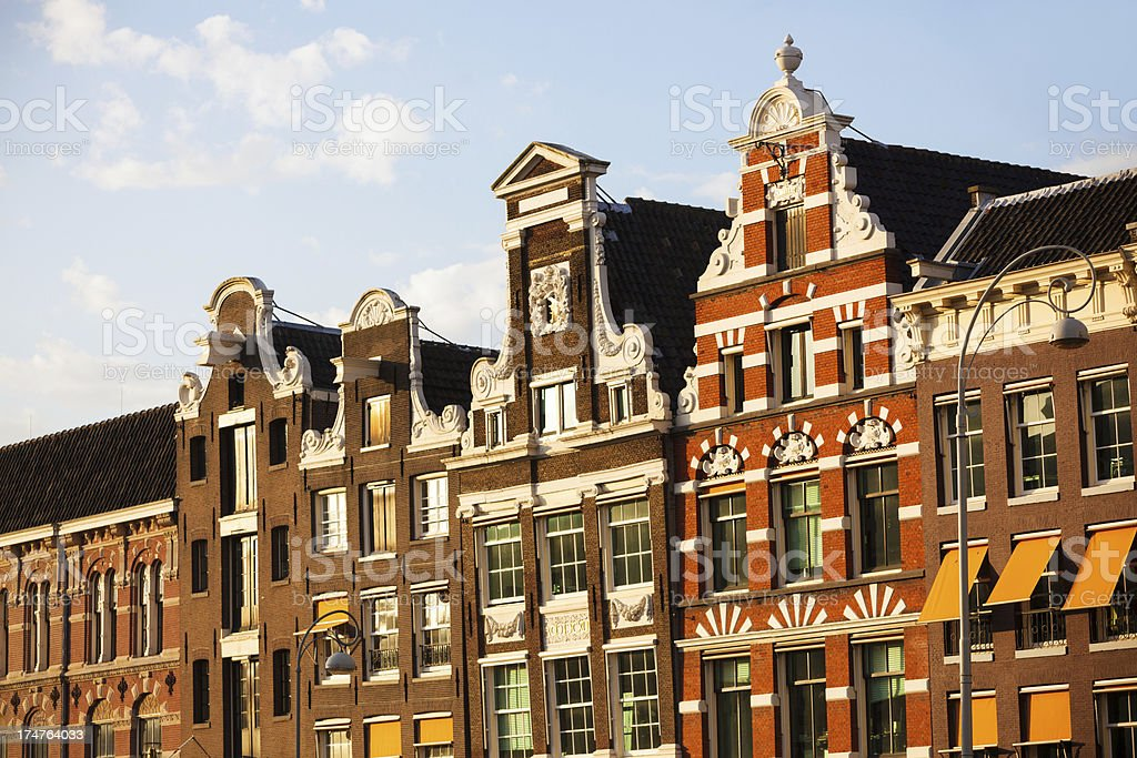 Dutch Houses in Amsterdam royalty-free stock photo