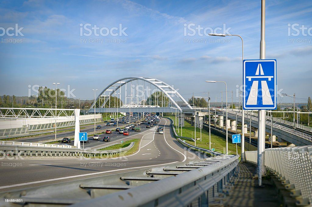 Dutch infrastructure royalty-free stock photo