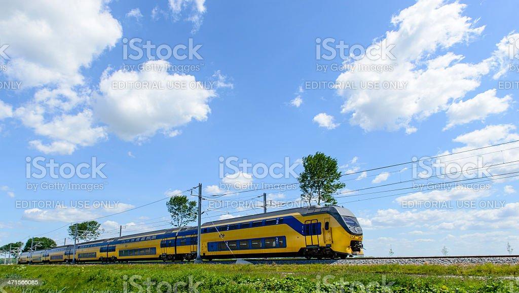 Dutch intercity train stock photo