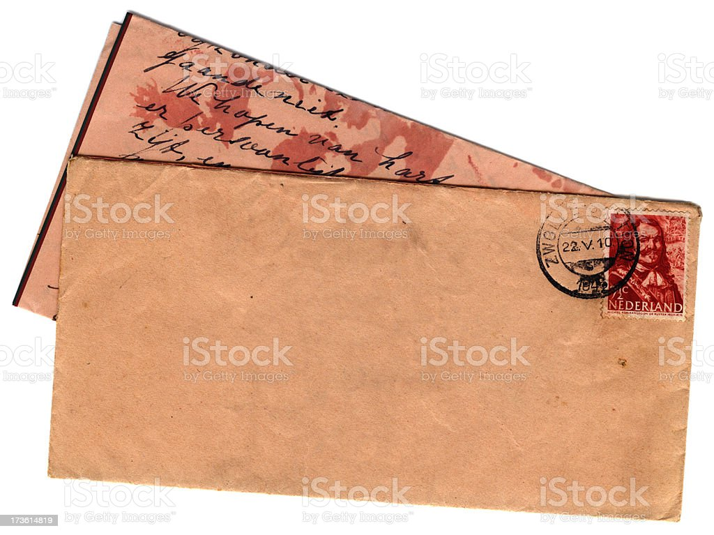 Dutch letter and envelope royalty-free stock photo