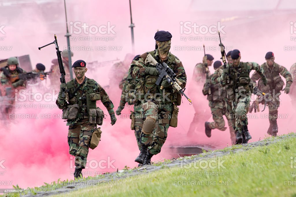 Dutch Marines royalty-free stock photo